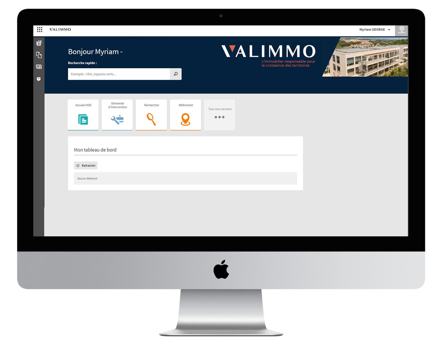 Application VALIMMO sur iMac