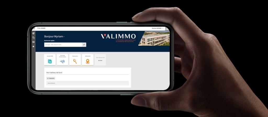 Valimmo application sur smartphone