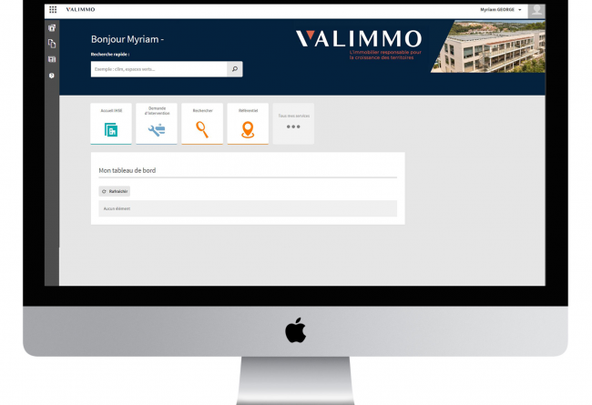 Application VALIMMO sur iMac